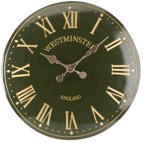 Westminster Tower Green Outdoor Wall Clock 38cm