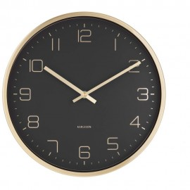 Elegance Black Wall Clock 30cm