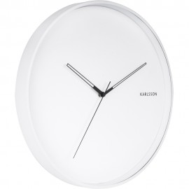 Hue Metal White Wall Clock 40cm