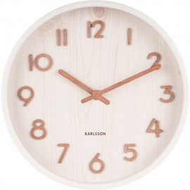 Pure Small Basswood White Wall Clock 22cm