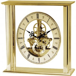 Malvern Gold Skeleton Mantel Clock 16.5cm
