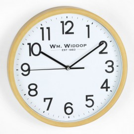 Round Wall Clock Wood Effect 31cm