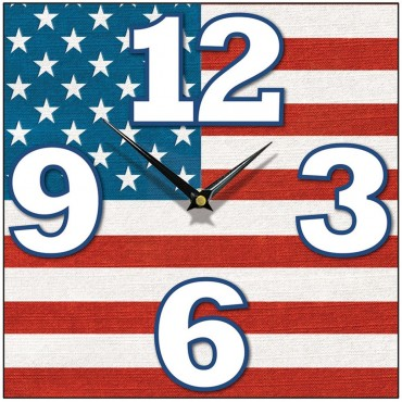 Stars And Stripes Wall Clock 28.5cm