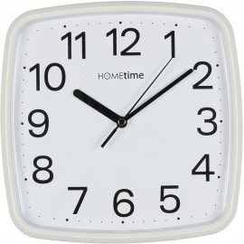 Plastic Wall Clock with Sweep - White 24cm