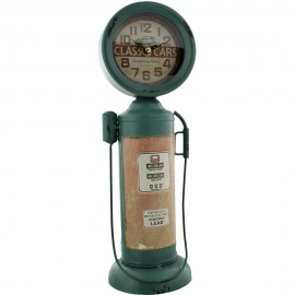Metal Mantel Clock - Gas Pump 12cm