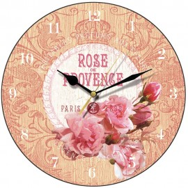 Rich Cream Rose De Provence Wall Clock 28.5cm