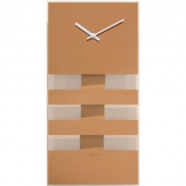 Bold Stripes Copper Wall Clock 38cm
