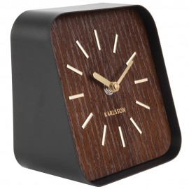 Squared Black Table Clock 15cm