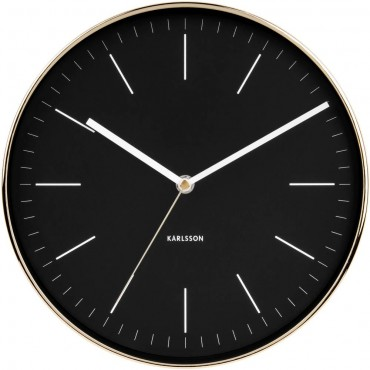 Minimal Black Wall Clock 27.5cm