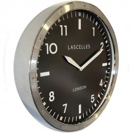 Brushed Chrome Lascelles Wall Clock 45cm