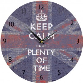 Keep Calm Union Jack Wall Clock 28.5cm