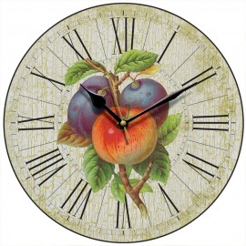 Apples And Plums Wall Clock 28.5cm