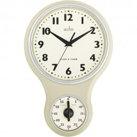 Kitchen Time Buttermilk Wall Clock 30cm