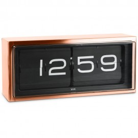 Brick Wall/Desk Clock Bronze 36cm
