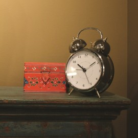 Wake Up White Alarm Clock 12cm, 21.5cm or 30cm
