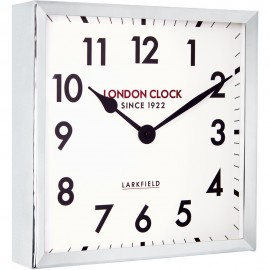 Locomotive Wall Clock Chrome 37cm