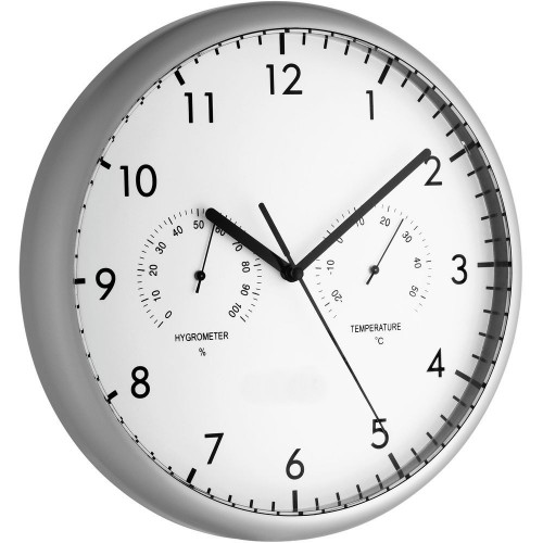 Wall Clock With Thermometer & Hygrometer 26.5cm