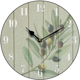 Antique Olive Wall Clock 28.5cm