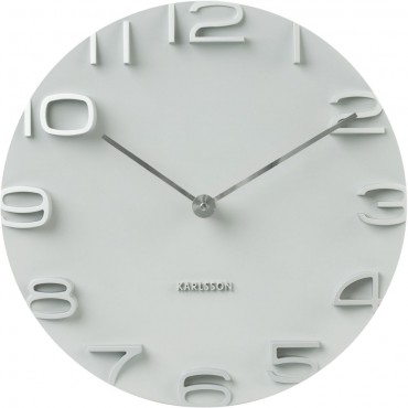 On The Edge White Wall Clock 42cm