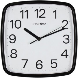 Plastic Wall Clock with Sweep - Black 24cm