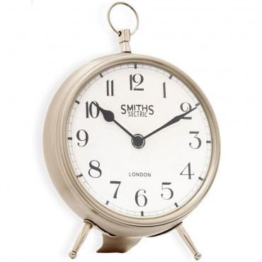 Fob Chrome Mantel Clock 25cm