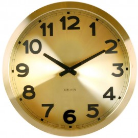 Gold Station Wall Clock 39.5cm