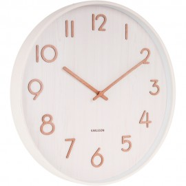 Pure Medium Basswood White Wall Clock 40cm