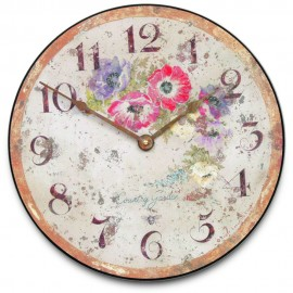 Anemore Country Garden Wall Clock 36cm