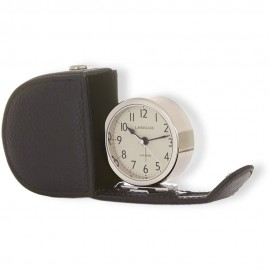 Lascelles Alarm Clock In Leather Travel Case 6cm