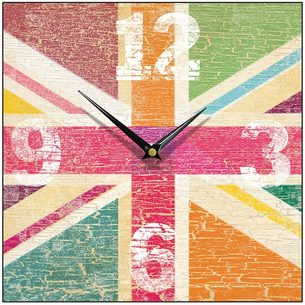 Frutti union jack wall clock 285cm tutti frutti union jack wall clock 285cm amipublicfo Images