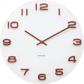Vintage White Round Wall Clock 35cm