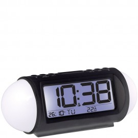 Black Colour Changing Alarm Clock 18cm