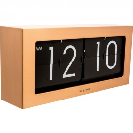 Big Flip Copper Wall Clock 36cm