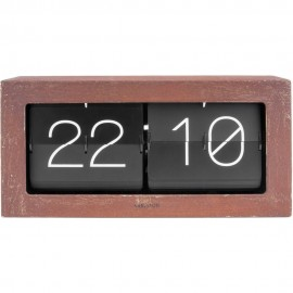 Flip Box Rusted Table Clock 37cm