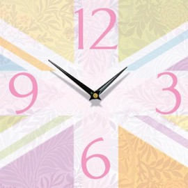 Antique Floral Union Jack Wall Clock 28.5cm
