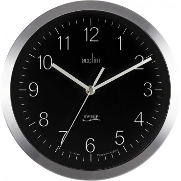 Kenton Black Wall Clock 25cm