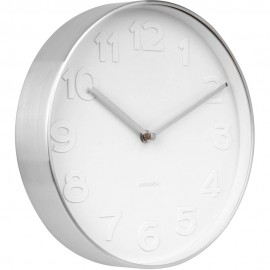 Mr. White Numbers Wall Clock 27.5cm