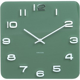 Vintage Square Wall Clock 35cm