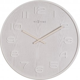 White Wood Wood Wall Clock 35cm or 53cm
