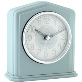 Duck Egg Piano Finish Mantel Clock 14cm