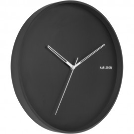 Hue Metal Black Wall Clock 40cm