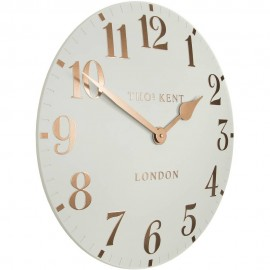 Arabic Flint Grey Wall Clock 50cm