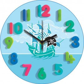 Blue Pirates Wall Clock 30.5cm