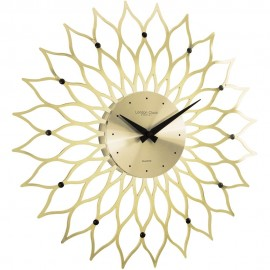 Gold Contemporary Wall Clock 38cm