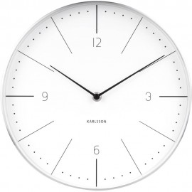 Normann White Wall Clock 27.5cm