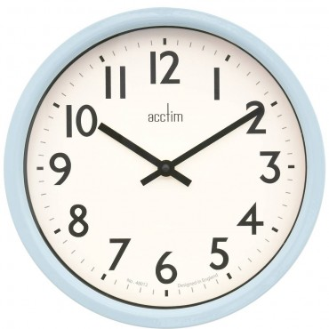 Moreton Blue Wall Clock 26cm