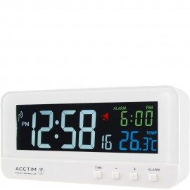 Rialto Radio Controlled Digital Alarm Clock 14cm
