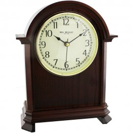 Broken Arch Mantel Clock with Arabic Dial 21.5cm