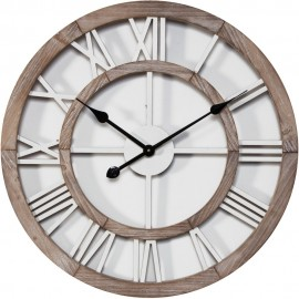 Shabby Chic Round Wall Clock Cut Out Dial 60cm