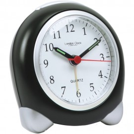 Small Black/Silver Analogue Alarm 9cm